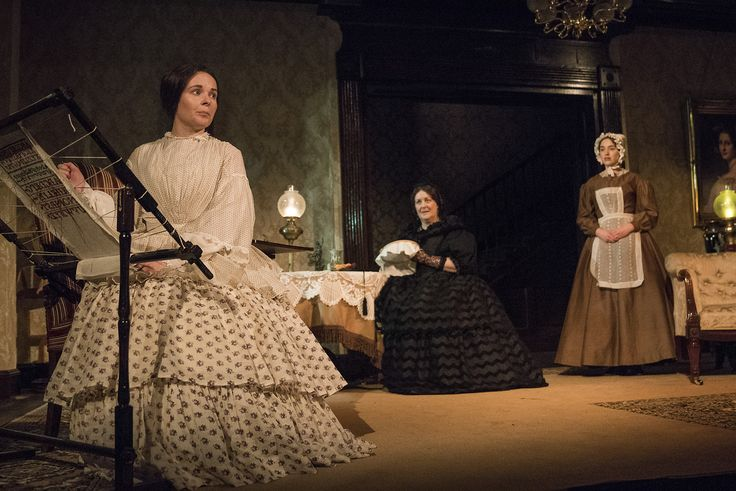 Karen McCartney, Marion O'Dwyer and Danielle Galligan in The Heiress by Ruth and Augustus Goetz, based on the novel Washington Square by Henry James. Picture by Pat Redmond