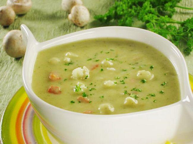 Суп пюре из цветной капусты ресторан