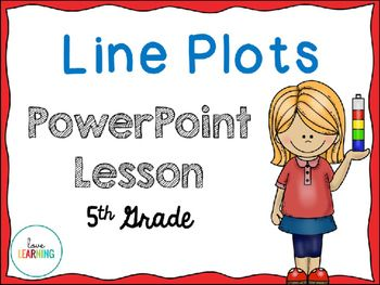 Line Plots PowerPoint Lesson - Covers Fifth Grade Standard 5.MD.B.2