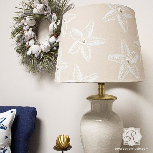 Wall Art Starfish Stencil for DIY Craft Projects.....I like the color and design for the lamp shade