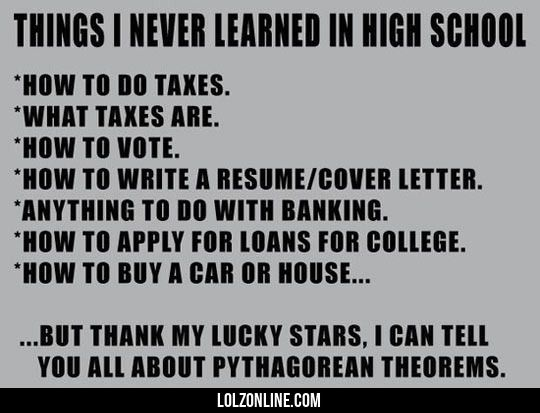 Some Of The Things I Never Learned In High School #lol #haha #funny