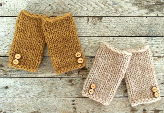 Knit Legwarmers with Wood Buttons  Knit Baby Leg Warmers  by zoik, $15.00
