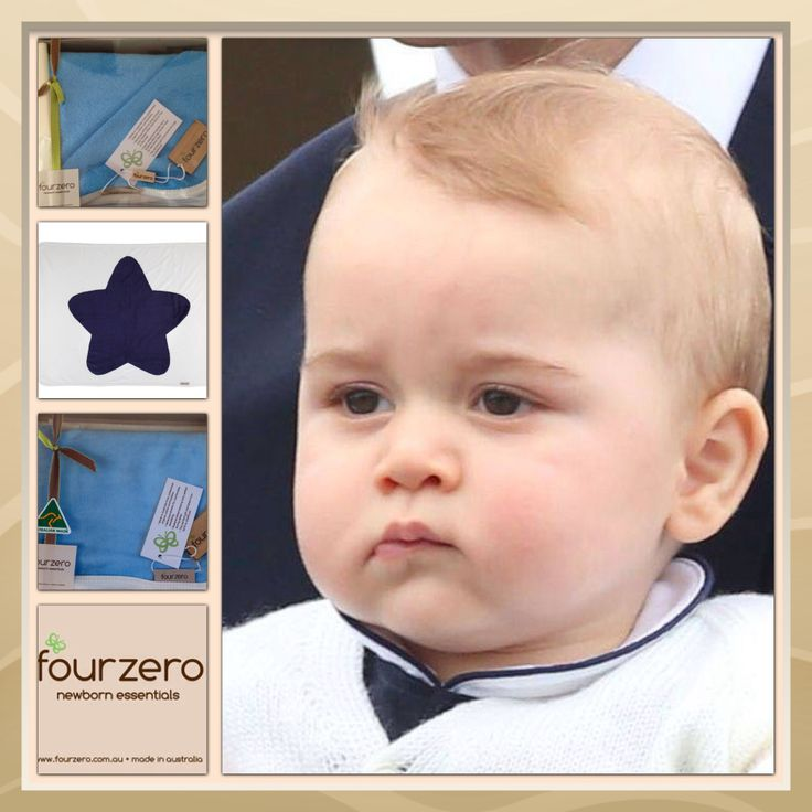 Four zero chosen for Prince George #fourzero #fourzero.com.au #NavyStarBlank #RoyalBlueBabyBathTowel #royalGifts