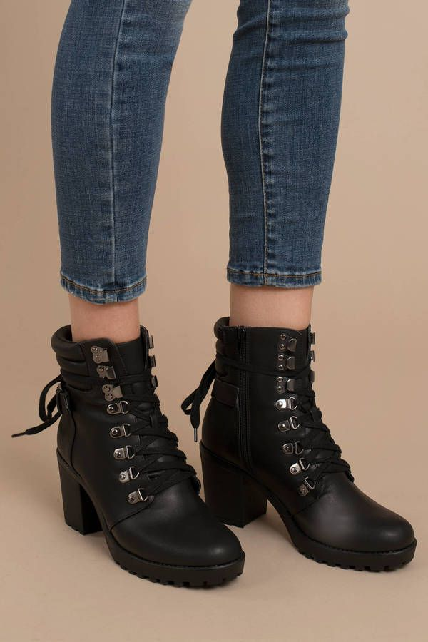 4b723736e63 Looking for the Mia Anamaria Black Combat Ankle Booties