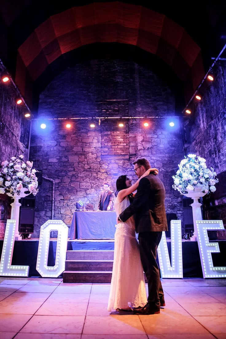 Our Classic LOVE Letters Looking Incredible At Carly And Seans Edinburgh Wedding On Rockmywedding