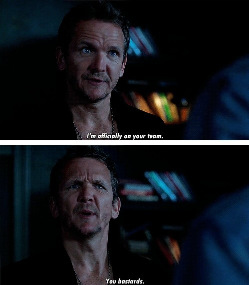 """I'm officially on your team. You bastards"" :gif: #Supernatural #LetItBleed #Balthazar"