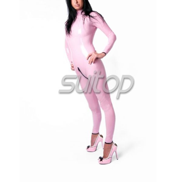 ==> [Free Shipping] Buy Best Pink Rubber Catsuits Latex Zentai sexy latex jumpsuit for girl latex fetish sex wear Online with LOWEST Price | 902565163