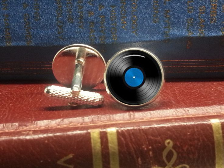 Vinyl record cufflinks antique or silver by aplaceintimehere on Etsy https://www.etsy.com/listing/202174523/vinyl-record-cufflinks-antique-or-silver