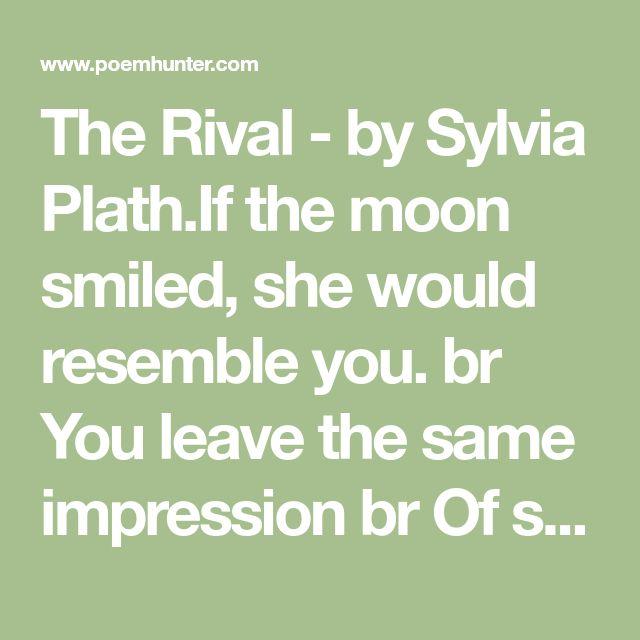 the rival sylvia plath