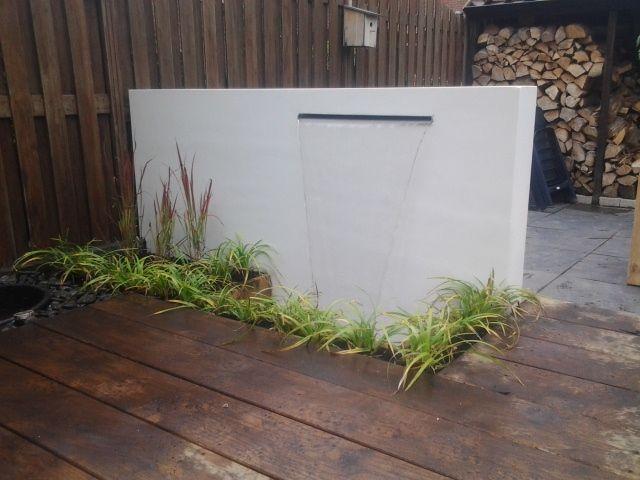 Beadz  Tuinmuur met waterval  tuinplanten  Pinterest