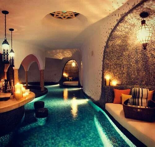 indoor pool with lazy river