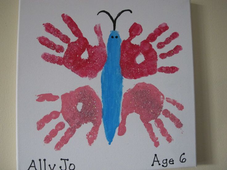 Butterfly my handprint art pinterest hand prints for Butterfly hands craft