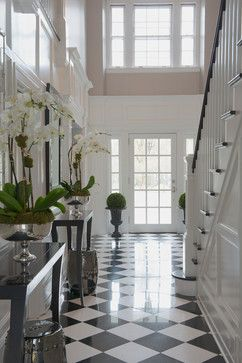 UPDATED GREENWICH RESIDENCE - traditional - entry - other metro - Susan Glick Interiors