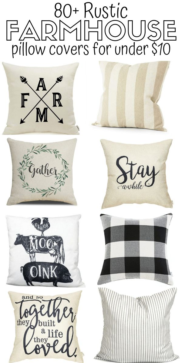 80+ Farmhouse Pillows & Farmhouse Pillow Covers On A Budget