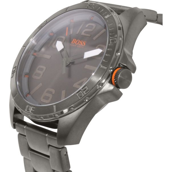 Hugo Boss Men's Berlin 1512999 Grey Stainless-Steel Quartz Watch
