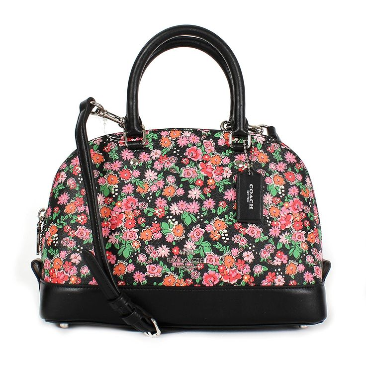 Coach Pink Floral Multi Mini Sierra Satchel F57621 ** Details can be found by clicking on the image.
