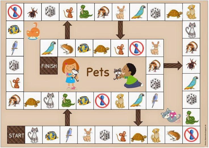 """Spielfeld zum Thema """"Haustiere/pets"""" Nach der kleinen Osterpause geht es hier jetzt wieder wie gewohnt, aber etwas langsamer weiter. Den ..."""