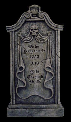 frankenstein gif   Halloweentown Store: Victor Frankenstein Tombstone