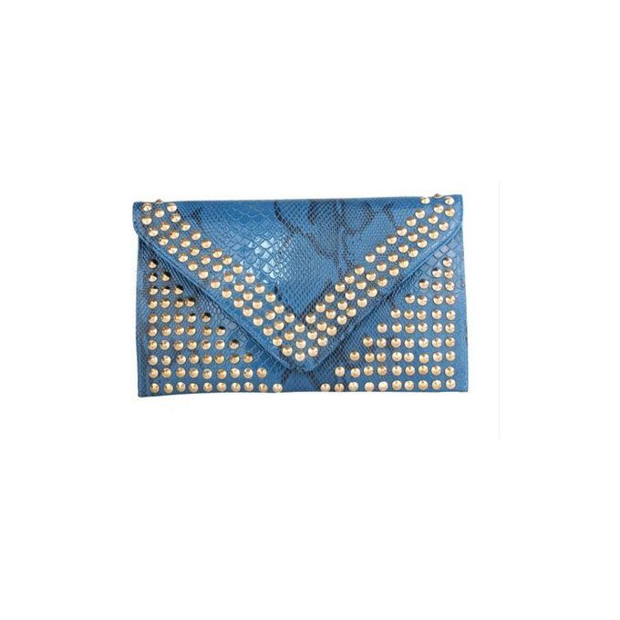 Fashion Rivet High Capacity Envelope Bag Street Beat The Influx Of Goods Wild Clutch Bag