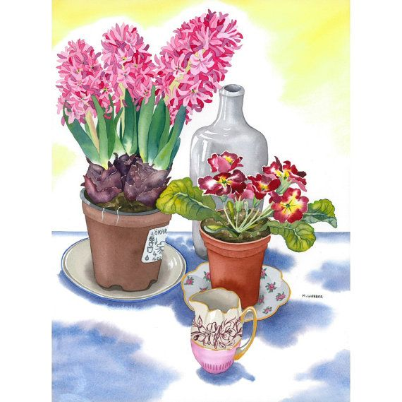Botanical Still Life Watercolour Limited Edition by michelewebber, £44.00