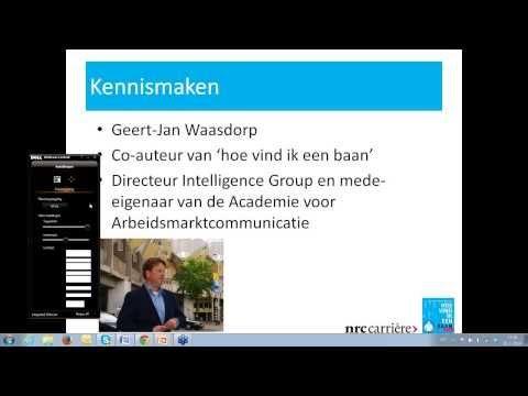 een baan vinden door Google goed te gebruiken | volg de uitgebreide uitleg via het webinar van Geert-Jan Waasdorp door op afspelen te klikken (video duurt 50 minuten)