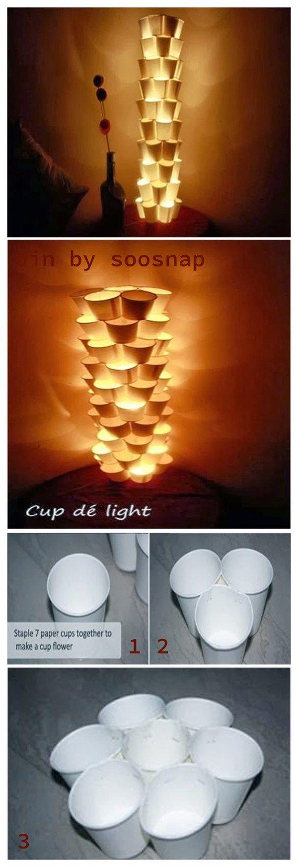 20+White Paper Lamps Ideas