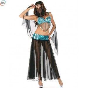 Arabisk danse kostyme Svart