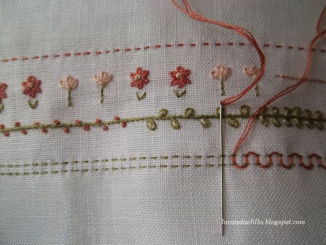 ♥ Embroidery - Lovely border and letters