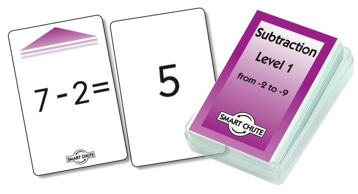 Smart Kids Smart Chute Subtraction Facts Level 1 Card Set of 54 - Inclusive Learning - Categories