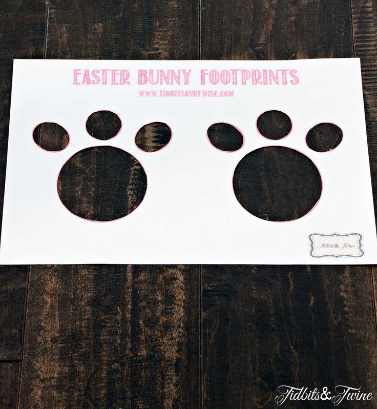 how to make magical easter bunny footprints, crafts, easter decorations, how to, seasonal holiday decor
