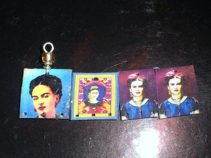 Frida Kahlo Charms/Beads by Jazminian9.deviantart.com on @deviantART