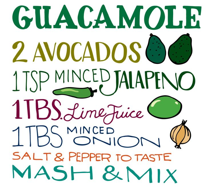 Recipe - Guacamole: Food Recipes, Illustrations Bites, Food Ideas, Simple Guacamole Recipes, Illustrations Recipes, Avocado, Guacamolecook Guide, Heather Diane, Guacamolerecip Cooking