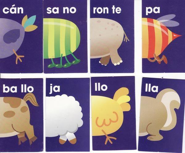 Resultado de imagen para domino para niños de preescolar animales