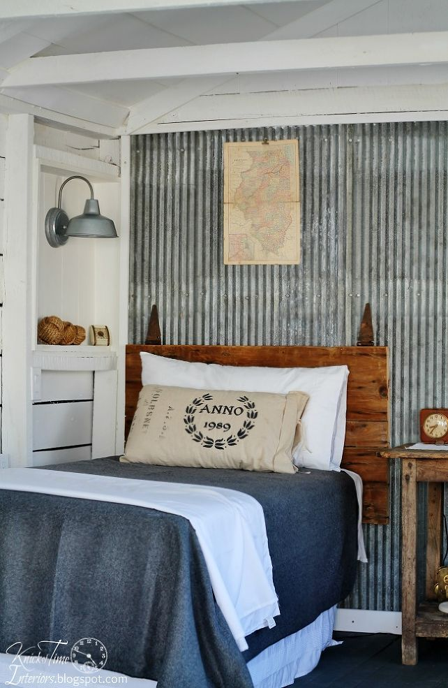 An old Farmhouse shed becomes a cottage style guest room -- you'll love the rest of it!