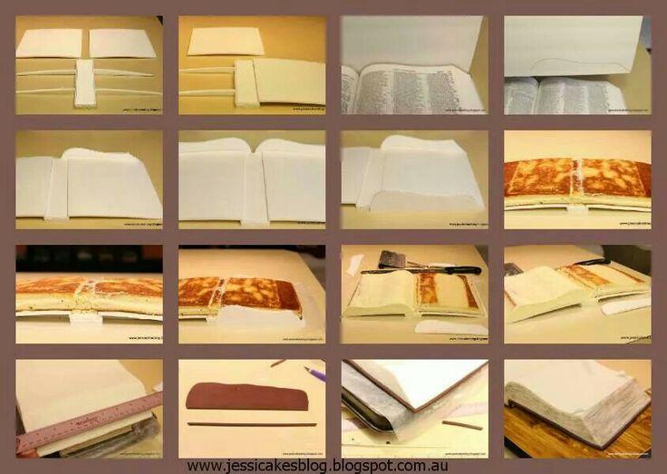 Book cake book cake pinterest tutoriales fondant y for Gimnasio 9 y 57