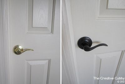DIY Door Handle Upgrade using Spray Paint. Step-by-step with photos.