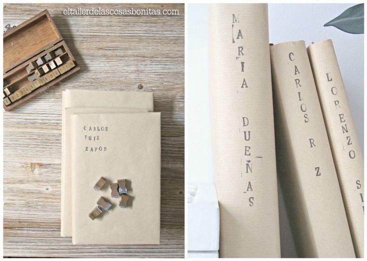DIY Cómo forrar libros | el taller de las cosas bonitas