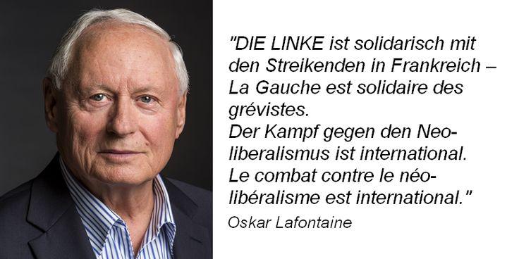 #oskar #lafontaine zum #streik in #frankreich: #dielinke ist #solidarisch #lagrève #greve #france #hollande #neólibéralisme #lagauche #oskarlafontaine #linksfraktionsaar
