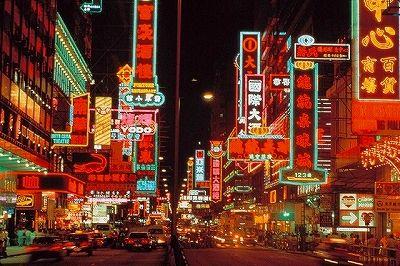 九龍のネイザンロードの夜散歩、ネオンの街並みを歩きたい☆