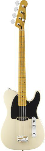 Squier by Fender Vintage Modified Telecaster Bass Guitar, Maple Fingerboard, Vintage Blonde - http://www.learntab.com/guitar-deals/squier-by-fender-vintage-modified-telecaster-bass-guitar-maple-fingerboard-vintage-blonde-4/