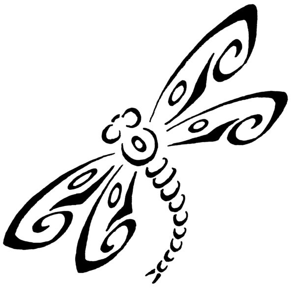 Dragonfly Tattoo Line Drawing : Dragonfly stencils printable tattoo catalog fee