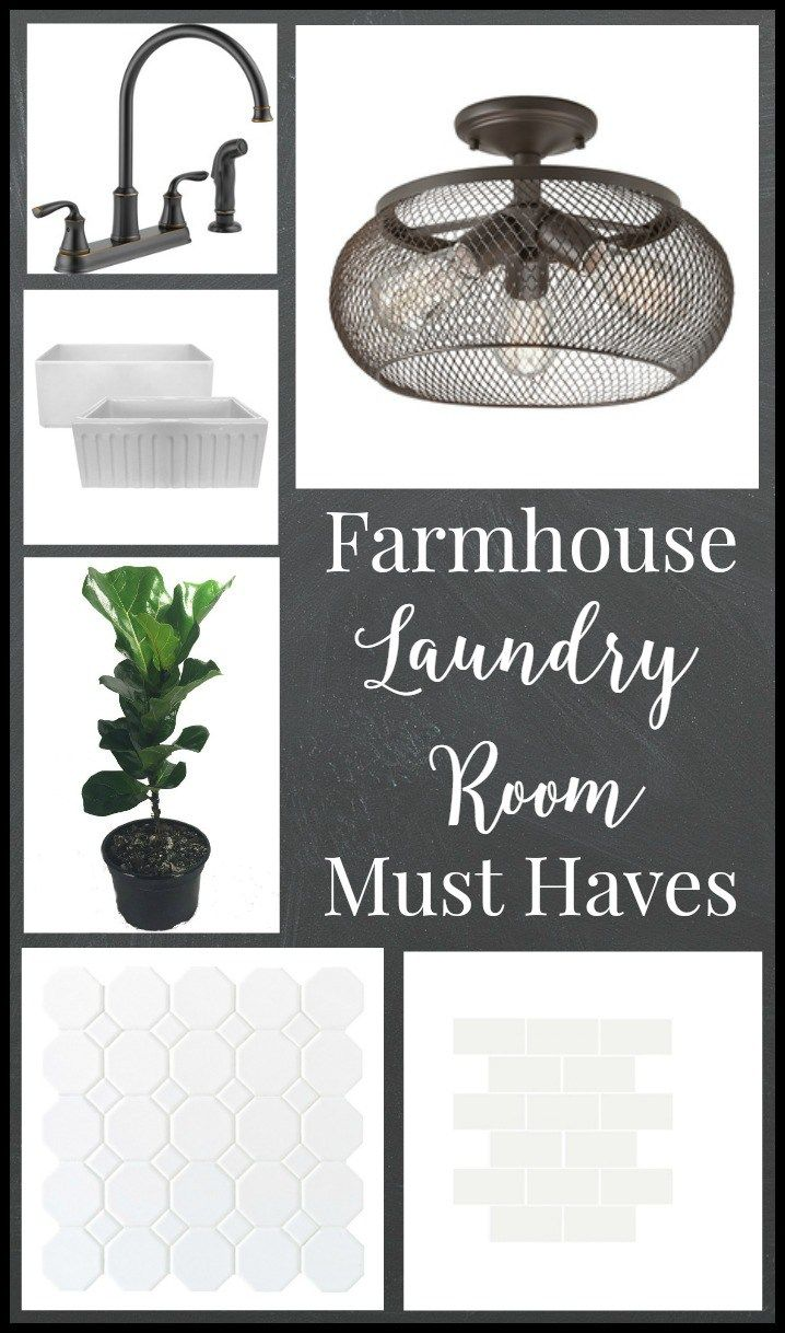Farmhouse laundry room must haves. I love this!