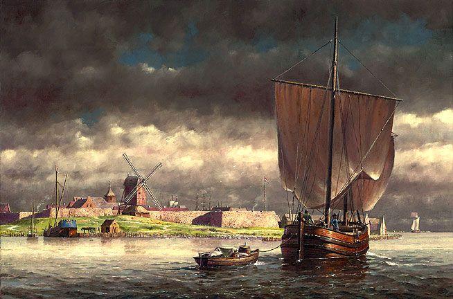 Len Tantillo. Fort Amsterdam, Manhattan c.1658. J. Russell Jinishian Gallery, Inc.