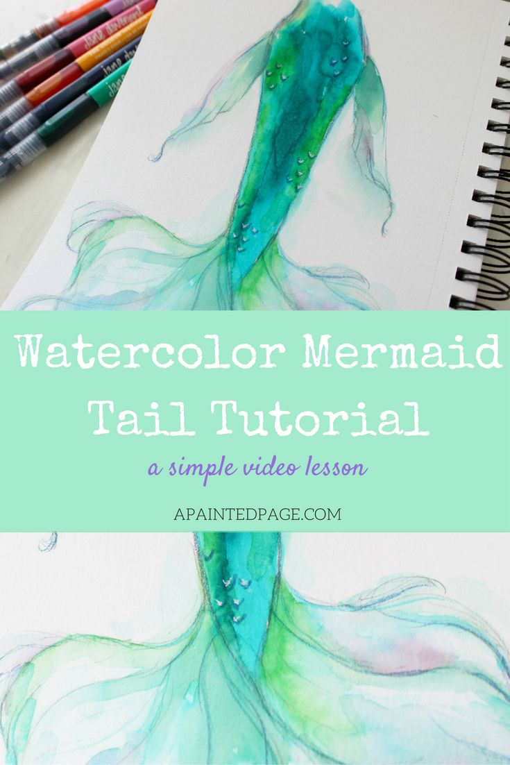 Watercolor with me!  I've just uploaded a new video tutorial using Jane Davenport's Mermaid Markers.  Click to check it out! Apaintingpage.com
