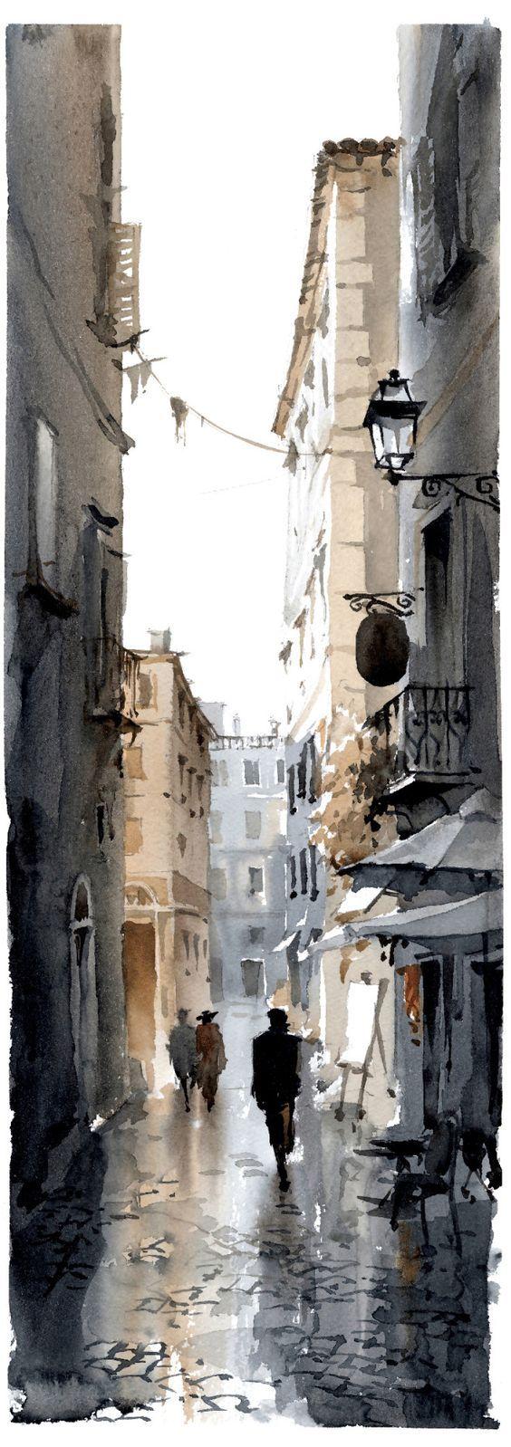 aquarelle - watercolor - Vicolo 2 | Igor Sava: