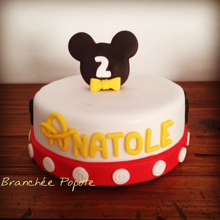 Gâteau Mickey – Anniversaire d'Anatole   Branchée Popote