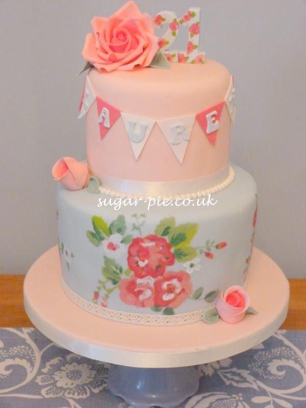 Hand painted Cath kidston inspired cake