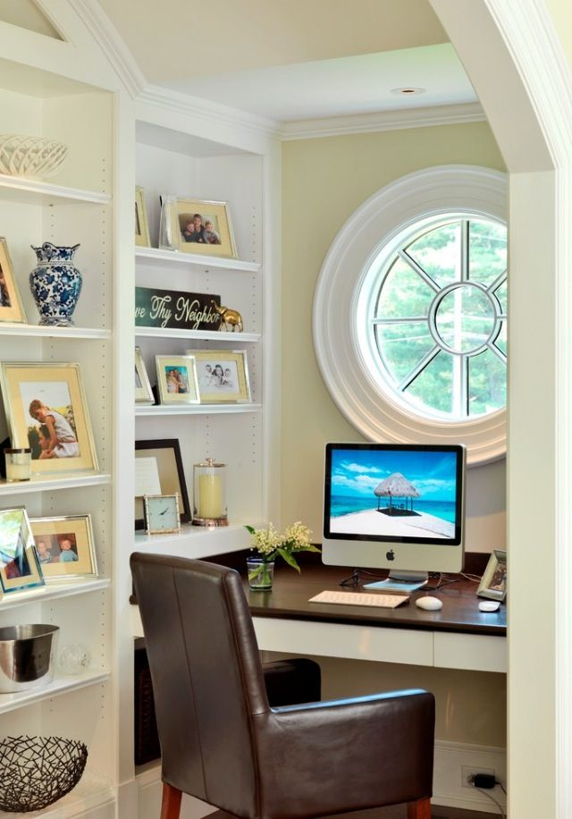 17 best images about home office inspiration on pinterest for Small office interior design inspiration