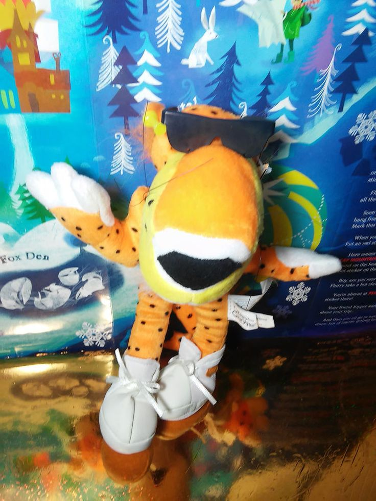 Chester Cheetah Dangerously Cheesy Cheetos Advertising Plush Stuffed HTF Rare #chester #cheetos #advertisingplush #plush