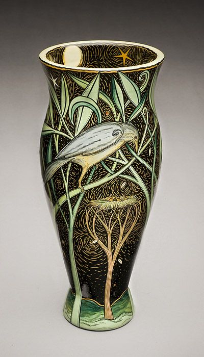 Terri Kern. Kern's work was featured in the November 2010 issue of Ceramics Monthly. http://ceramicartsdaily.org/ceramics-monthly/ceramics-monthly-november-2010/